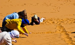 playing on the retreat in morocco