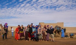 retreat people in the desert