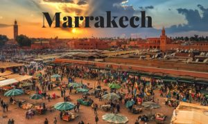 morocco tourists on holiday