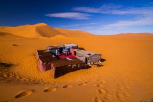 Sahara Desert camp Morocco