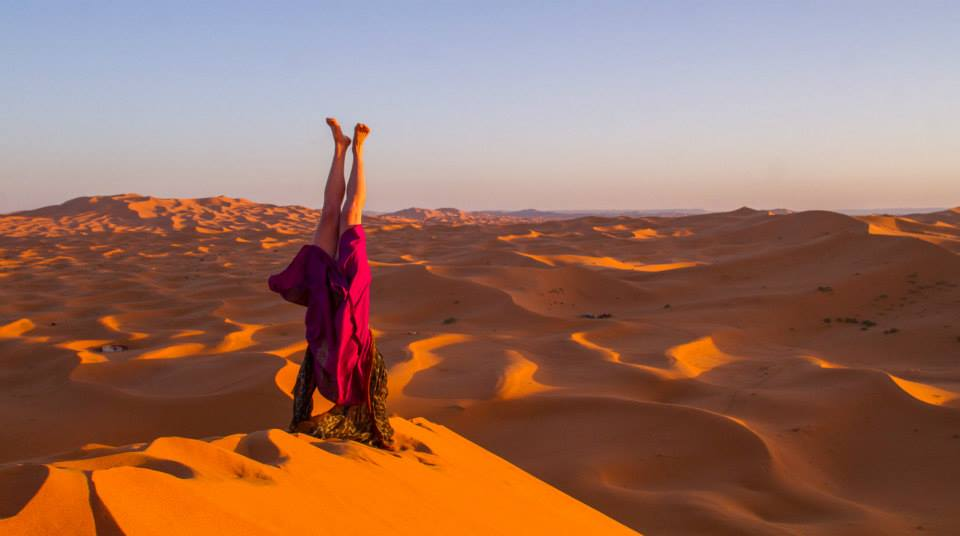 yoga retreat in the desert in Morocco
